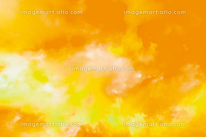 水彩調 アブストラクト背景 黄色4689の販売画像