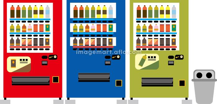日本の自動販売機イラストの販売画像