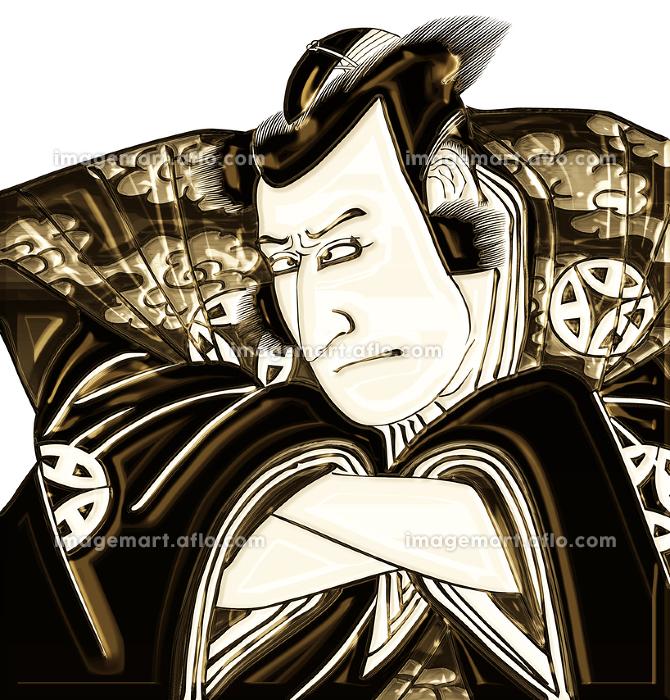 浮世絵 歌舞伎役者 その29 金バージョンの販売画像