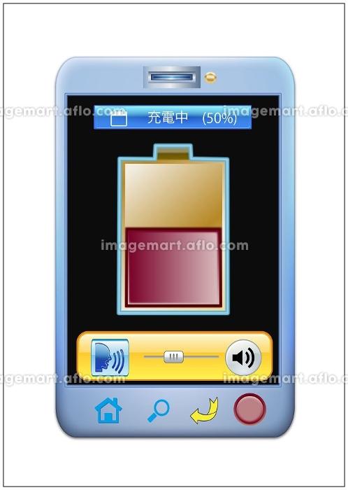 充電するスマートフォン