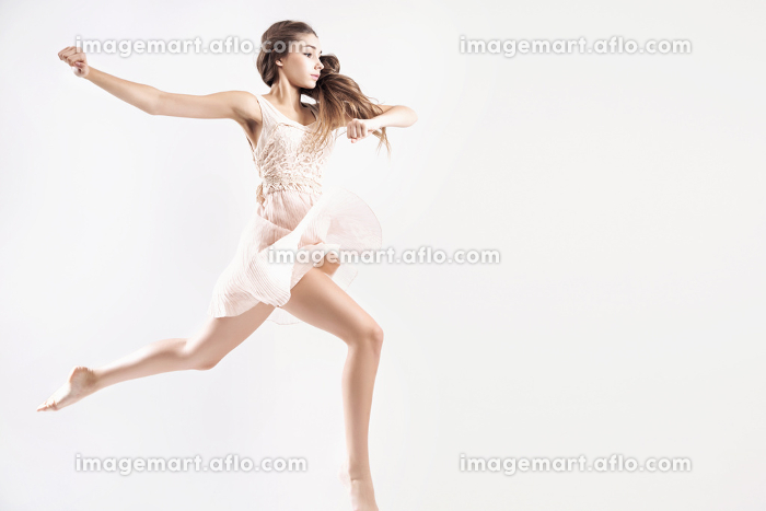 Young girl as a talented ballet dancer