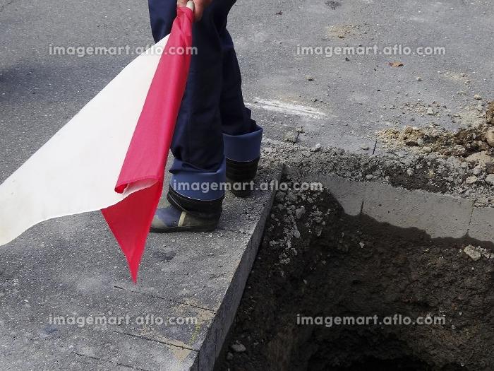 工事現場の警備員の販売画像
