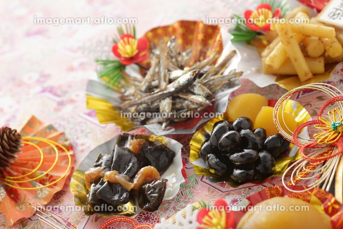 お正月のおせち料理の素材イメージの販売画像