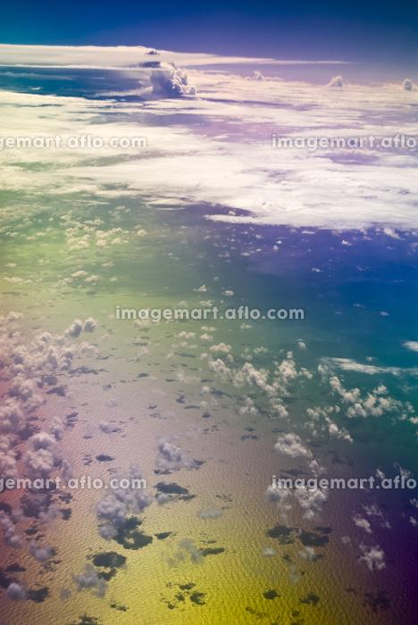 機上よりの空 偏光フィルタ使用の販売画像