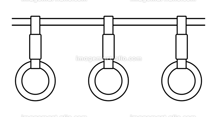 つり革(モノクロ)の販売画像