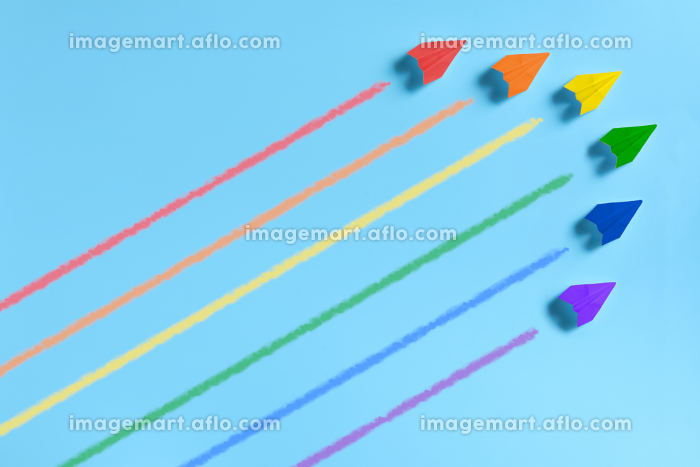 6機の虹色の紙飛行機 3の販売画像