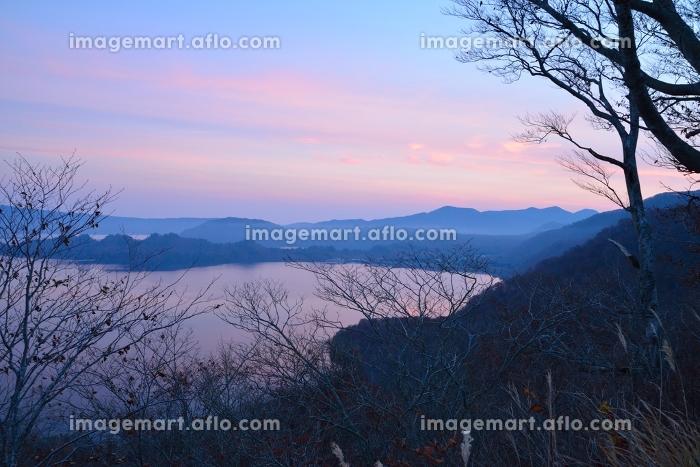 湖畔の朝の販売画像