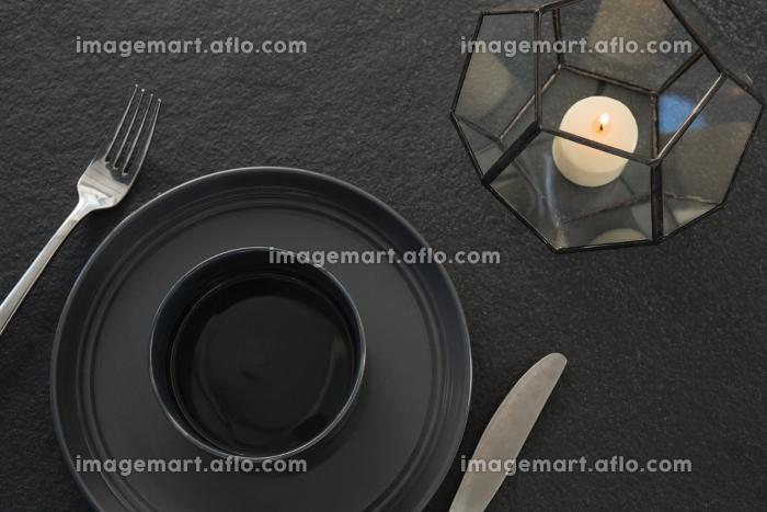 Black theme table settingの販売画像
