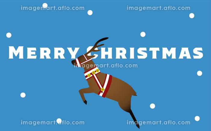 走るトナカイのクリスマスカード