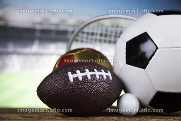 Group of sports equipment, Winner backgroundの販売画像