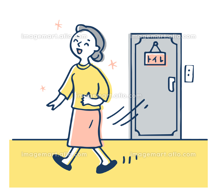 スッキリした顔でトイレから出てきた女性