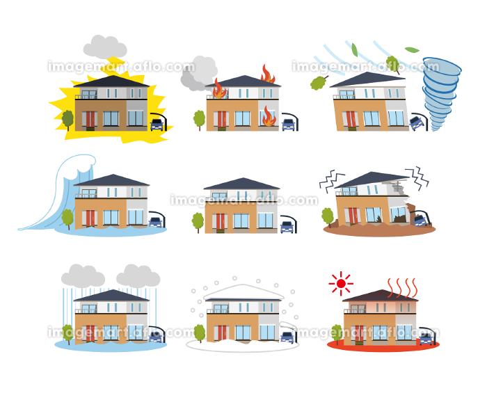 住宅 一軒家 自然災害の販売画像