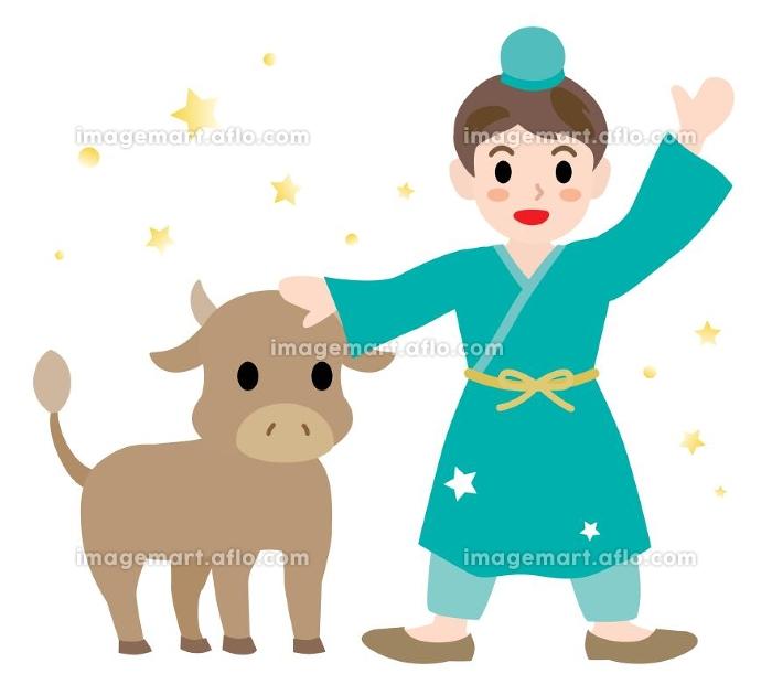 七夕祭りの彦星のイラストの販売画像