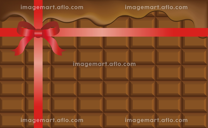 バレンタイン チョコレート 背景 壁紙 コピースペース イラスト素材 イメージマート