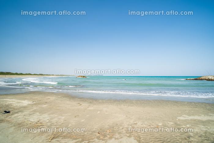 波の高い大原海岸 千葉県いすみ市の販売画像