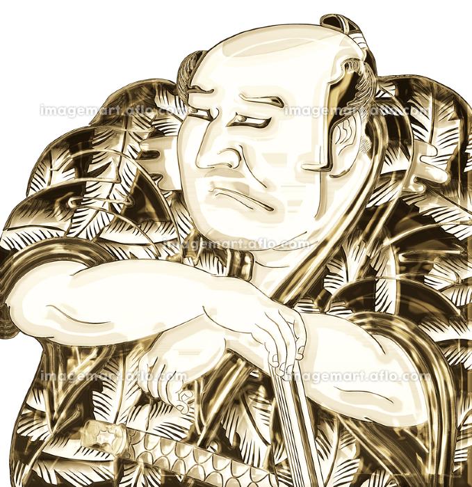浮世絵 歌舞伎役者 その30 金バージョンの販売画像