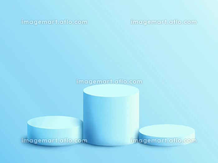 背景素材 3D 水色の円柱の台座 表彰台の販売画像
