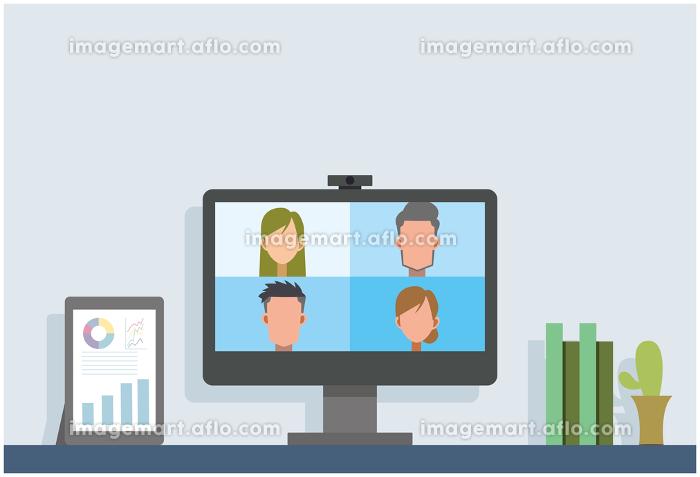テレワーク リモート 会議 自宅勤務の販売画像