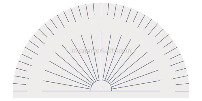 分度器のイラスト素材 定規 算数 数学 製図 授業 ベクターの販売画像