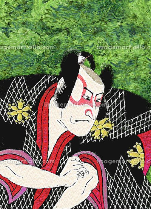 浮世絵 歌舞伎役者 その10 油絵バージョンの販売画像