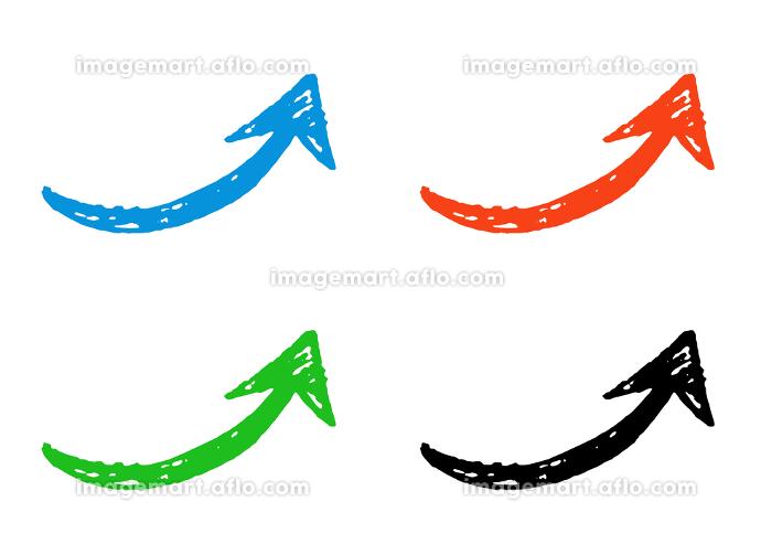 手描きの矢印 カラフルセットの販売画像