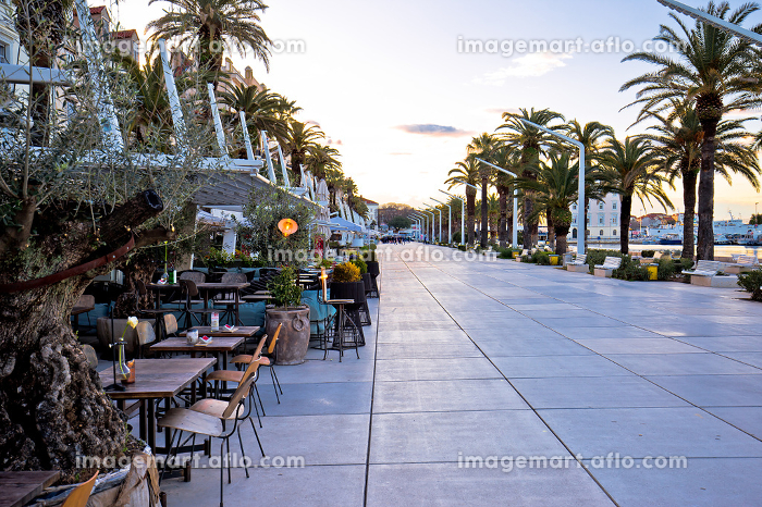 Split Riva waterfront colorful viewの販売画像