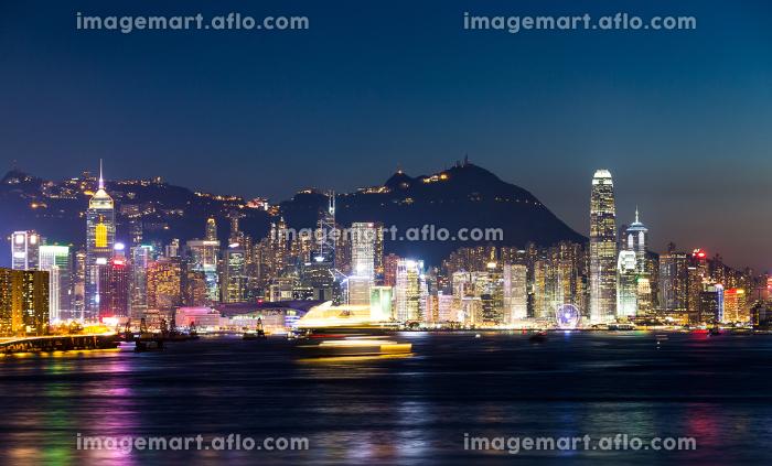 Hong Kong cityscape at nightの販売画像