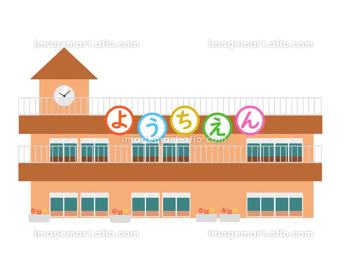 幼稚園 茶色の屋根 文字 線無しの販売画像