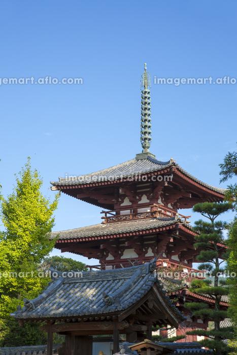 奈良斑鳩町の法輪寺三重塔の販売画像