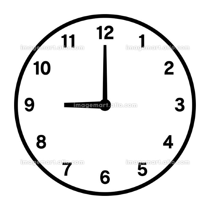 9時の時計アイコンの販売画像