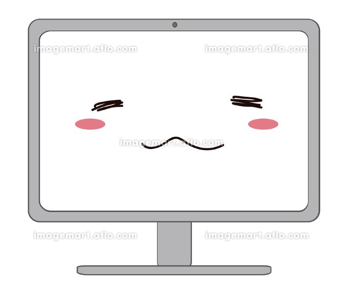 笑顔のパソコンの素材の販売画像