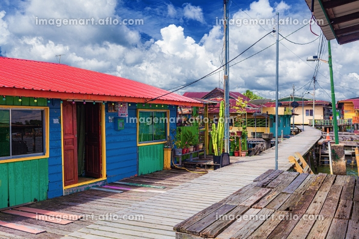 ブルネイ・バンダルスリブガワンの水上集落の販売画像
