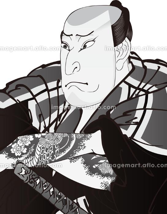 浮世絵 歌舞伎役者 その58 白黒の販売画像