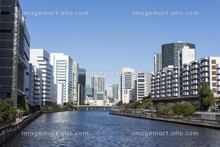 東京 天王洲の風景 天王洲運河 高浜運河の販売画像