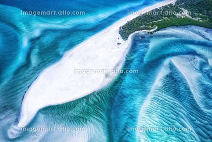 オーストラリア・グレートバリアリーフ ホワイトヘブンビーチの風景の販売画像