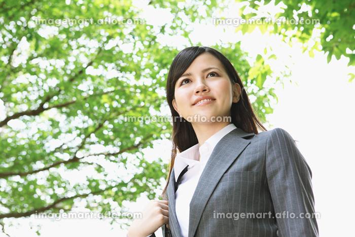 新緑とビジネスウーマンの販売画像
