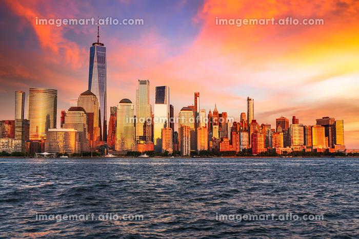 Manhattan sunset - New York City, USAの販売画像