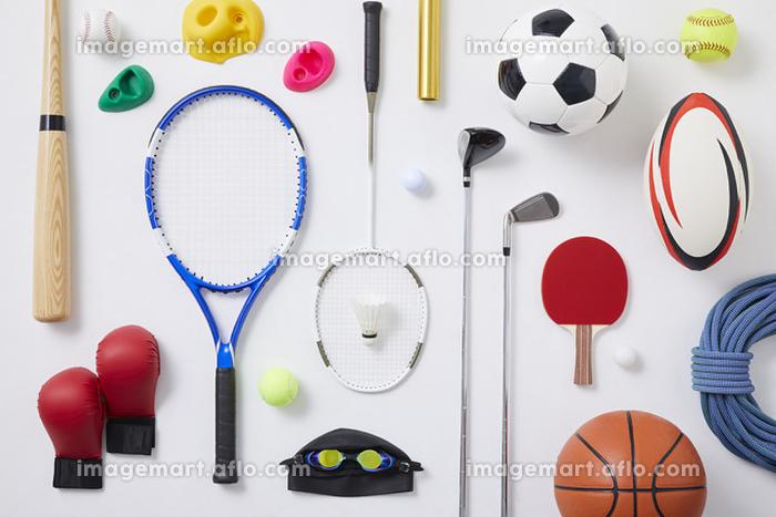 ラケット、ボールなどスポーツ用品の販売画像