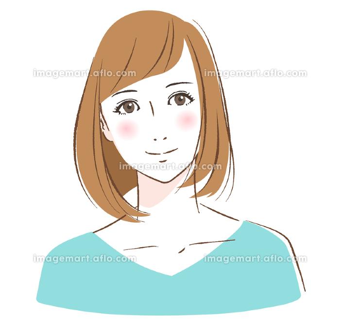 微笑む若い女性の販売画像