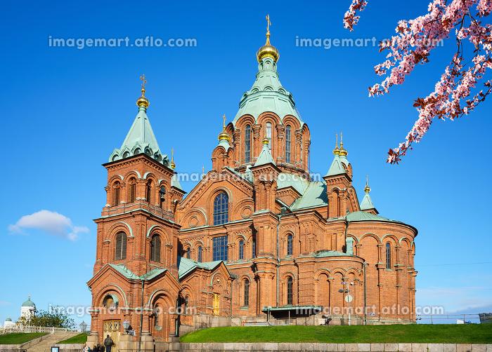 Uspenski Cathedral in Helsinki at spring