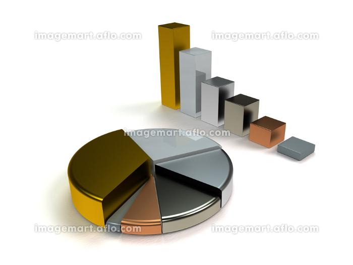 bar chart pie chart metallicの販売画像