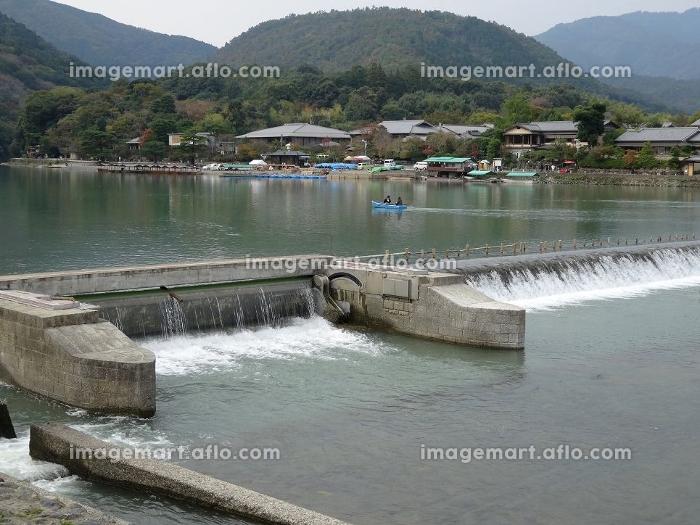桂川と大井堰の販売画像