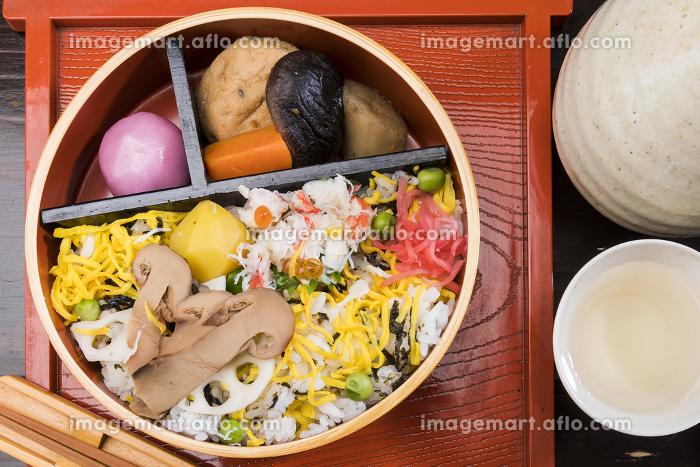松茸と蟹の寿司の販売画像