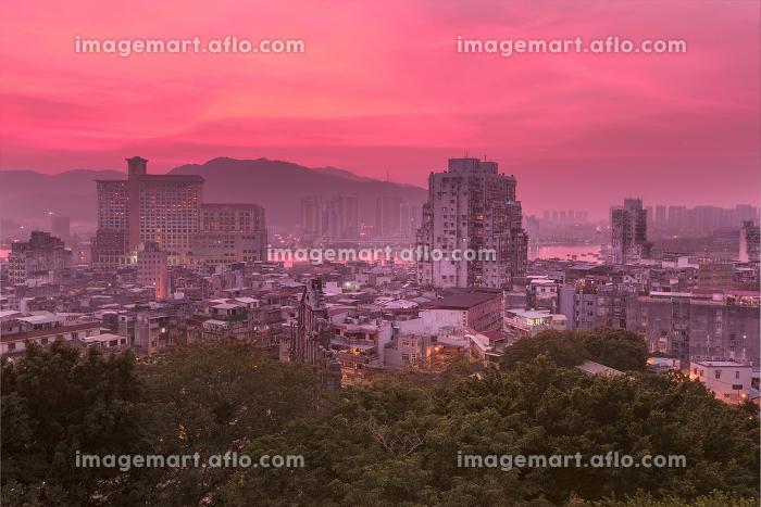image of Macau downtown at Twilightの販売画像