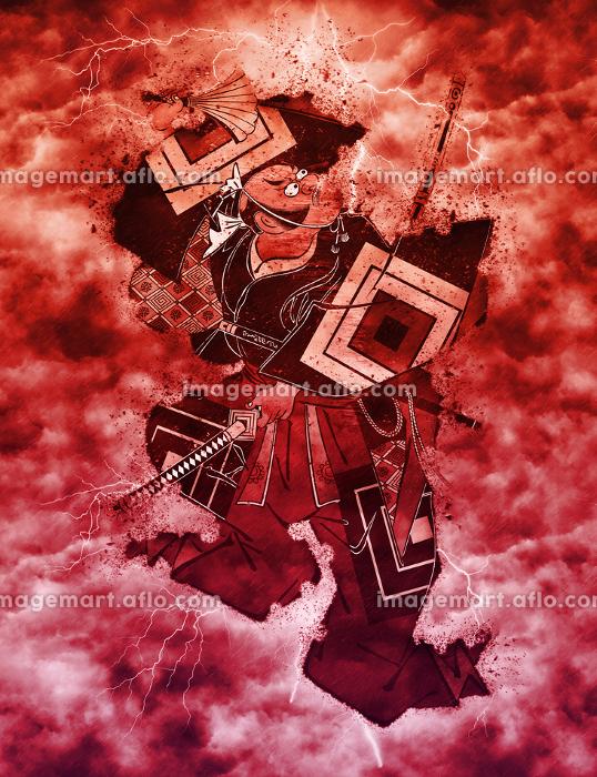 浮世絵 歌舞伎役者 その49 赤い嵐バージョンの販売画像