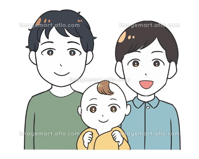 同性愛カップル ゲイ 赤ちゃんの販売画像