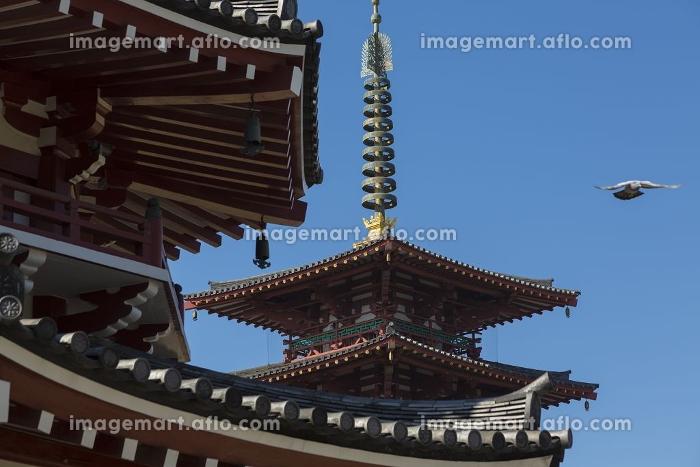 四天王寺南鐘堂と五重塔の販売画像