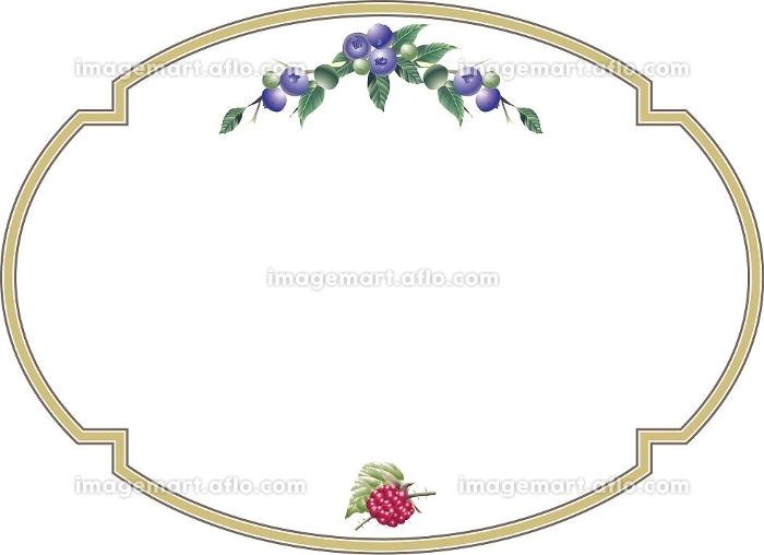 ブルーベリーとラズベリーの飾り枠