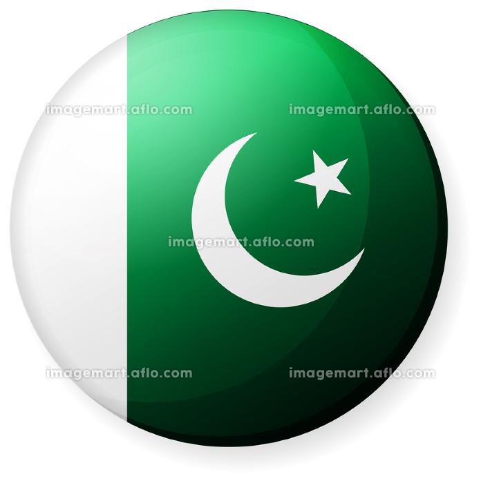 半球体・円形 国旗イラスト ( 光沢・缶バッジ ) / パキスタンの販売画像