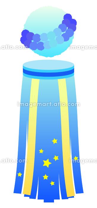 七夕祭りの吹き流しのイラストの販売画像